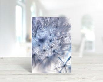 Blue Dandelion Photographic Greeting Card