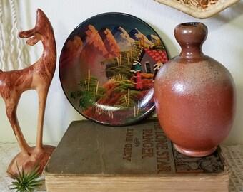 Rust Ceramic Vase / Red and Brown Ceramic Vase / Handmade Stoneware Vase