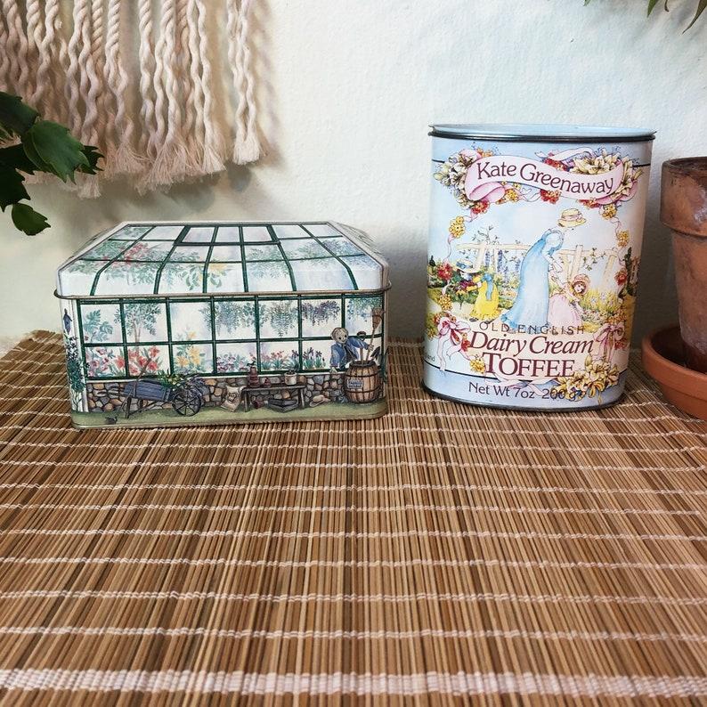 Greenhouse Tea Tin Vintage Tea Tin Vintage Kitchen Candy image 0