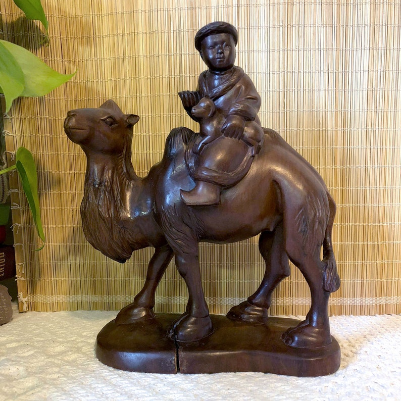 Camel and Child Statue Camel Statue Desert Statue image 0