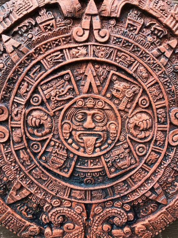 Calendrier Maya Dessin.Plaque De Mur En Pierre Azteque Calendrier Maya Ornement Maison Ou Le Jardin De Pierre De Soleil