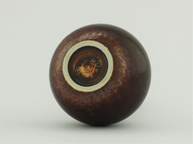 Carl-Harry St\u00e5lhane R\u00f6rstrand Stoneware vase with a stunning dark brown glaze