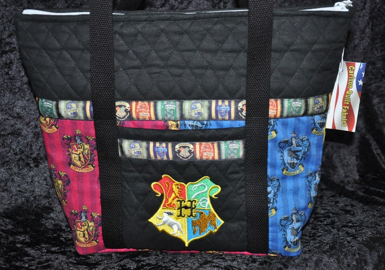Harry Potter-House of Gryffindor Crest Tote Bag-Machine Quilted-Hand Made