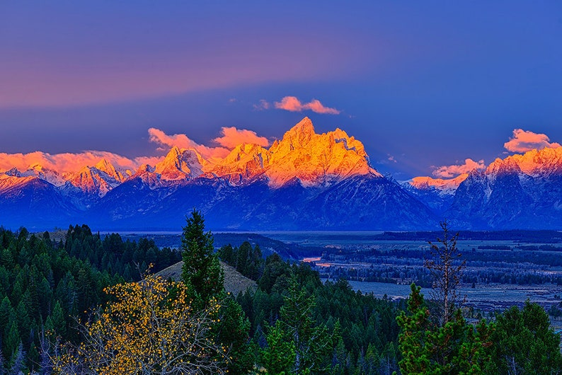 Grand Teton National Park Let There Be Light Fine Art Giclee Etsy