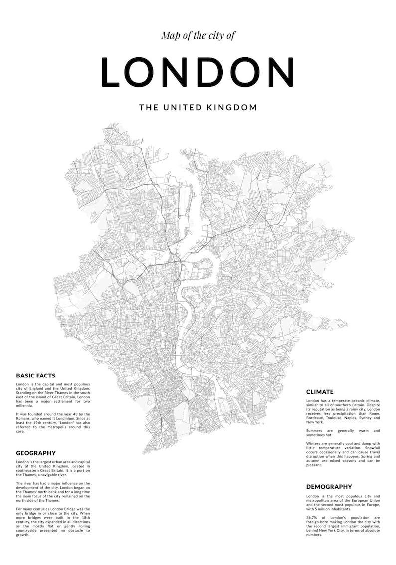 Basic Map Of London.London Map London Wall Art Map Wall Art London Map Wall Art London Poster London Wall Art Map Poster Black And White Print Map Print