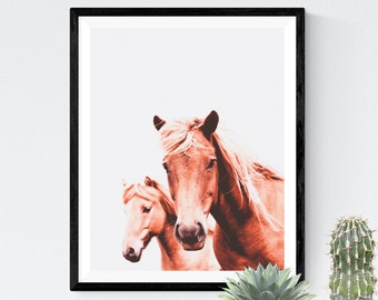 Horse photo, Horse Wall Art, Horse print, Animal Print, Wall Art, Icelandic Horse, Animal Art, Scandinavian Print, Minimalist Print