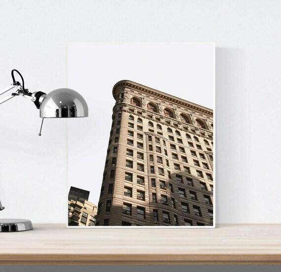 photo de new york cadre imprimer de new york flat iron etsy. Black Bedroom Furniture Sets. Home Design Ideas