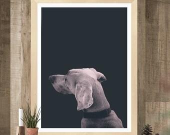 Dog Print, Animal Print, Printable Art, Modern Wall Decor, Dog Wall Decor, Animal Art, Scandinavian Print, Minimalist Print, Pink wall art