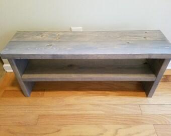 Bench with Shoe Shelf Organizer