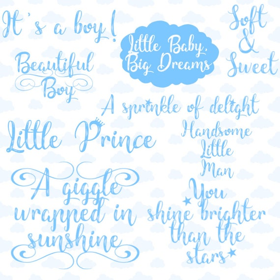 it s a boy blue baby boy overlay birth announcement clip etsy