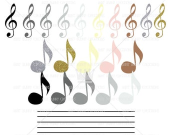 Music Notes Clip art, Music Class Clipart, Music Note Png, Glossy Pastel, Piano Music class, Music Clipart, Sparkly Music Note Clipart