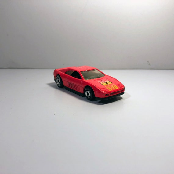 1990 Vintage Hot Wheel Ferrari 348 Rennwagen Mattel Malaysia Etsy