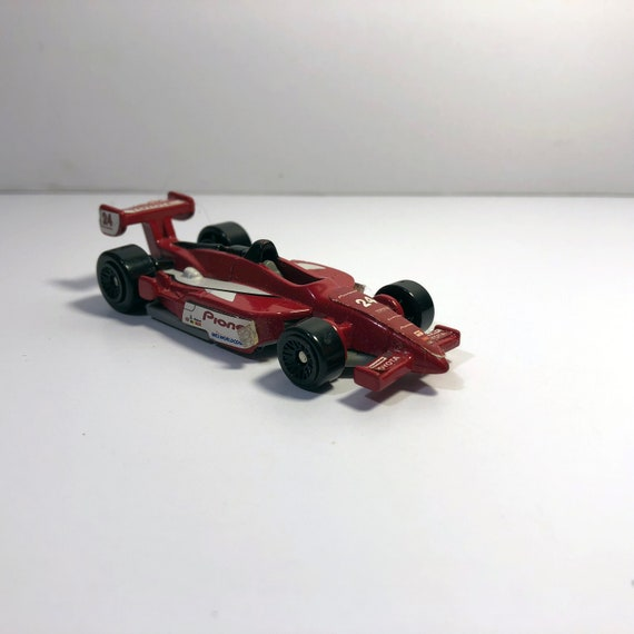 1999 Vintage Hot Wheel Race Car - Mattel Inc  - Red - McDonald Corp  -  Toyota 24 - Pioneer - Used - Collectible