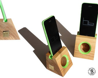 I phone dock portable wooden, #Acoustic #speaker , docking station, Ash timber phone #dock, #desk tidy, fits all iPhones Xs pro,max,Se,Xr