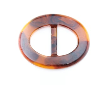 Acrylic tortoise belt buckle - Oval and Square