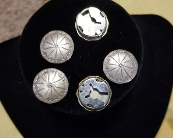 Vintage Sterling Silver Navajo Button Covers