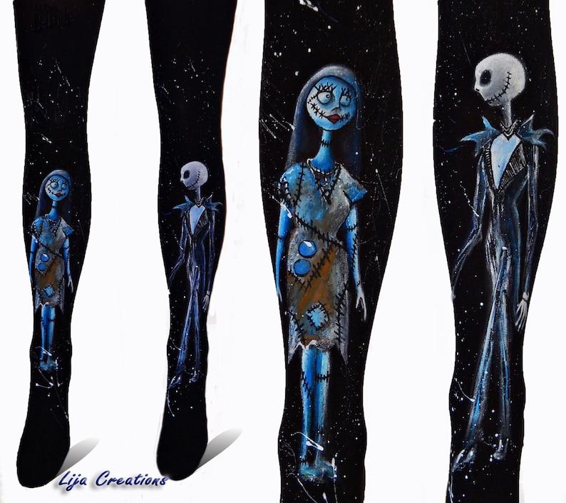 a5ac63b202e29e Nightmare before Christmas Leggings Jack and Sally design | Etsy