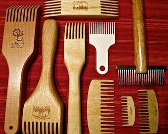 SirMo Tapestry Weaving Tool Wood Loom Comb DIY Braided Tools Comb