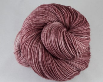 Cashmere Blend Sock Yarn, hand dyed wool, variegated sock yarn, nylon sock yarn, pink, mauve, burgundy