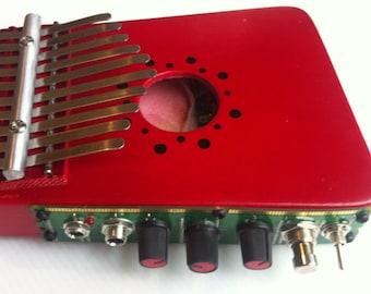 Electric Kalimba w/circuit bent Delay - 11 note Thumb piano