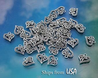 50pcs Tibetan Silver Alloy Cross Pendants Nickel Free Metal Dangle Charms 17x8mm