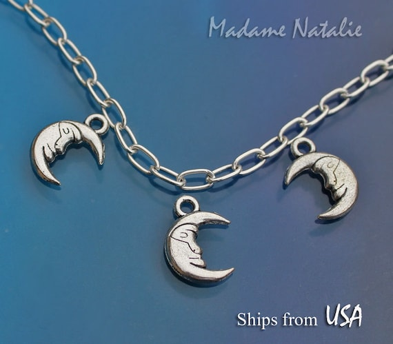 Tibetian Silver Lead Free Pewter Charms//Moon and Star