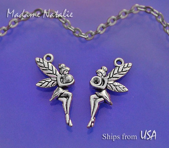 271d854787571 Fairy Charms Double Sided (6), Antique Silver Tone Charms, Nymph Charms,  Fairies Charms, Charm Bracelet, Cute Fairy Charm, Little Angel