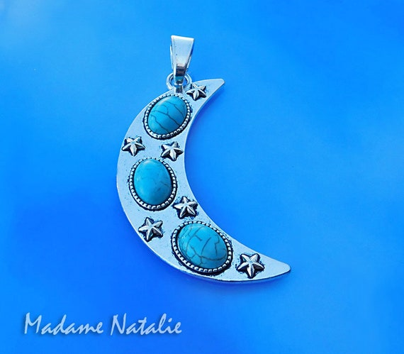 10 x Tibetan Silver Tone Cat and Moon Charms Pendants Beads 25x18mm