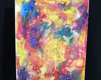 Abstract Colorful Watercolor Original Painting