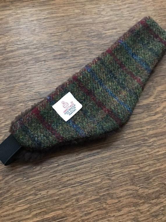 Harris Tweed Ear Warmers Tweed head band Ear Muffs fleece  4750bf39ec4