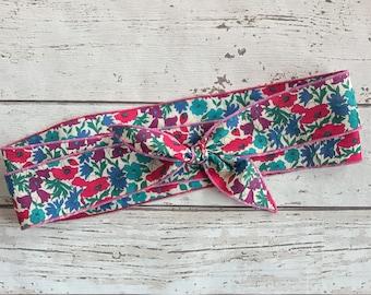 Liberty print head band, floral hair accessory , cotton orint head scarf , liberty print head wrap, print floral accessory, head band