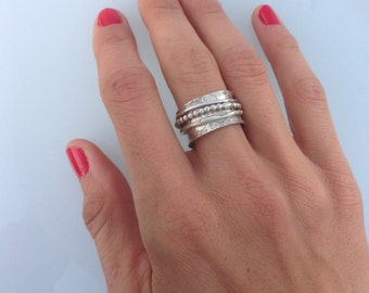 Sterling Silver Spinner ring
