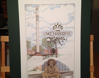 UNC Charlotte - color print