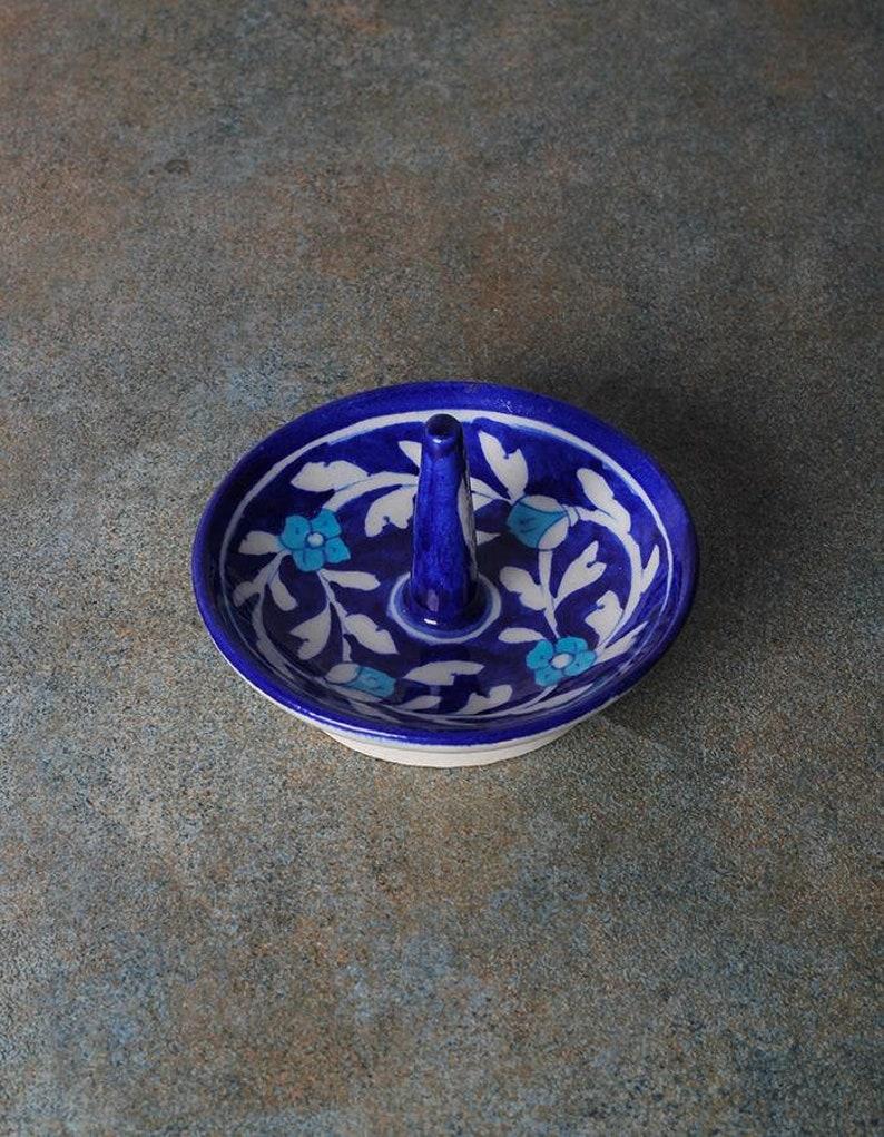 Ring Holder Handmade Blue and White Floral Design Ring Holder Mother/'s Day Gift