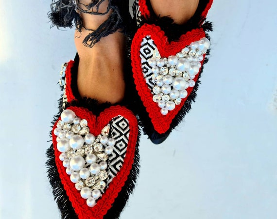 Pearls shoes/crystals shoes/rhinestones shoes/boho shoes/bohemian/Greek genuine leather shoes/handmade shoes/women shoes/fringes shoes