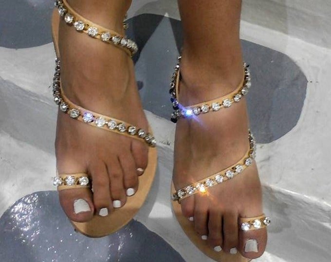 Greek sandals,sparkle, gladiator,bridal,crystals ,women sandals,wedding sandals,leather sandals,boho,ethnic,luxury sandals,strappy