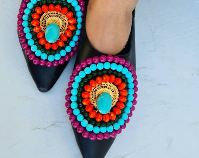 Greek leather shoes/bohemian shoes/boho shoes/handmade shoes/crystals beads/women shoes/flats/colorful shoes/genuine leather shoes/fashion