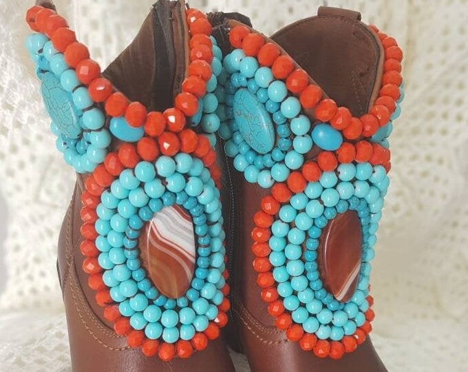 Boots/Western boots/cowboy boots/women boots/leather boots/boho boots/gypsy boots/embellished boots/colorful boots/handmade boots/vintage