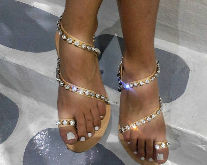 DHL FREE Greek sandals,sparkle, gladiator,bridal,crystals ,women sandals,wedding sandals,leather sandals,boho,ethnic,luxury sandals,strappy