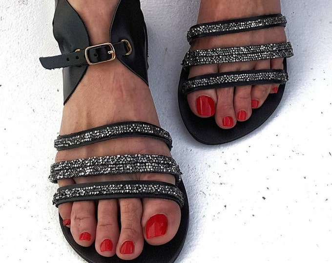 8c409f6624a1 Greek sandals gladiator sandals strappy sandals crystals sandals boho  sandals feathers