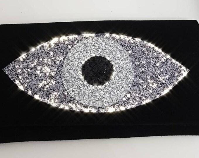 DHL FREE Greek evil eye bag/black /messanger bag/purse bag/genuine leather /cocktail bag/summer handbag/Greek evil eye/glitter bag/handmade