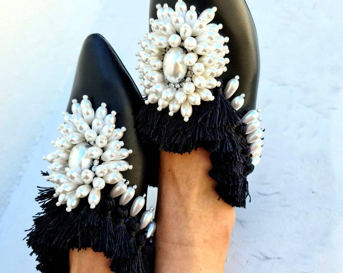 Greek leather shoes/pearls shoes/crystals shoes/fringes shoes/bohemian shoes/women shoes/genuine leather/bohemian shoes/wedding/handmade