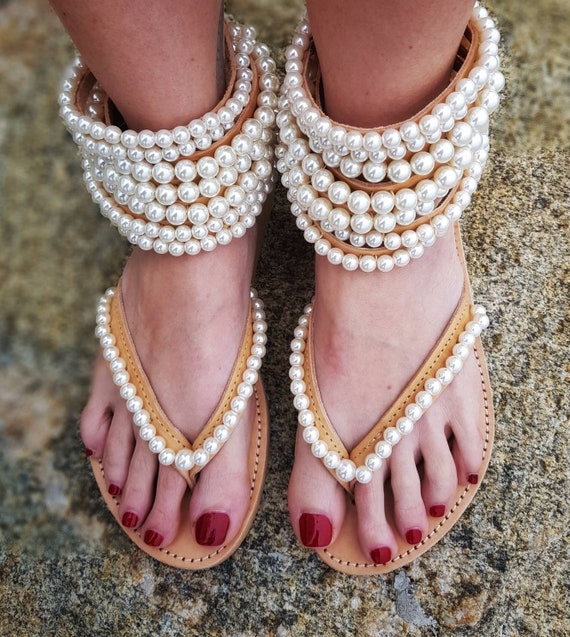 gladiators ,Greek sandals,Bohemian sandals,women's shoes,pearl sandals,leather sandals,summer shoes,strappy sandals,pearls,boho