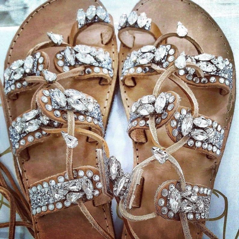 c119f33c8d62 Greek sandals gladiator sandals crystals sandals women