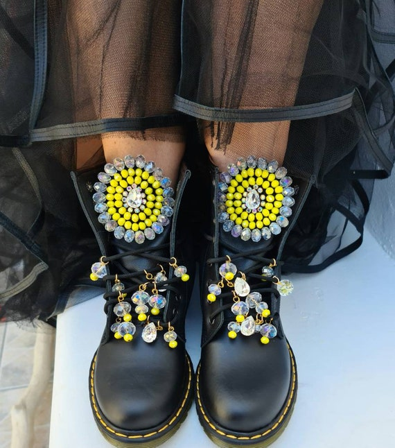 Handmade boots/bohemian boots/gypsy boots #boho boots/crystals rhinestones boots/Greek genuine leather boots/women shoes/handmade shoes