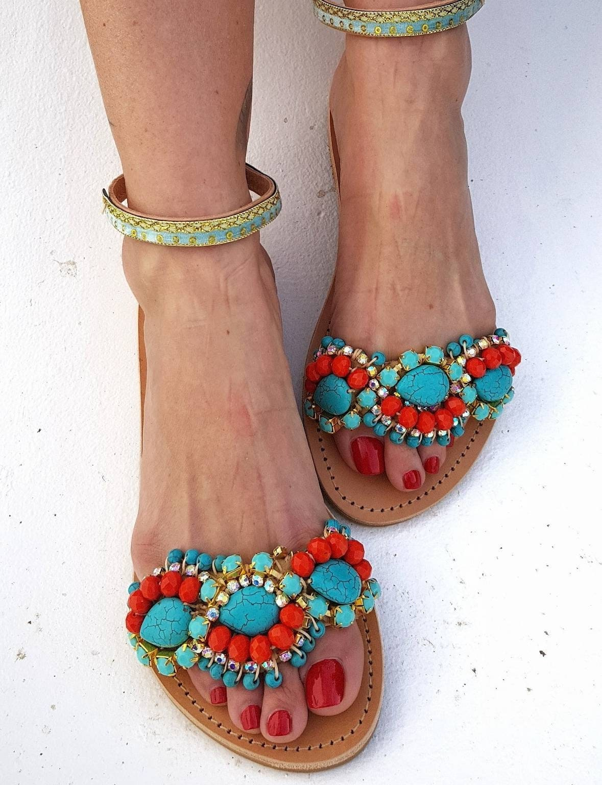 c1cd16f12967b1 Greek sandals handmade boho sandals ethnic luxury women shoes ...