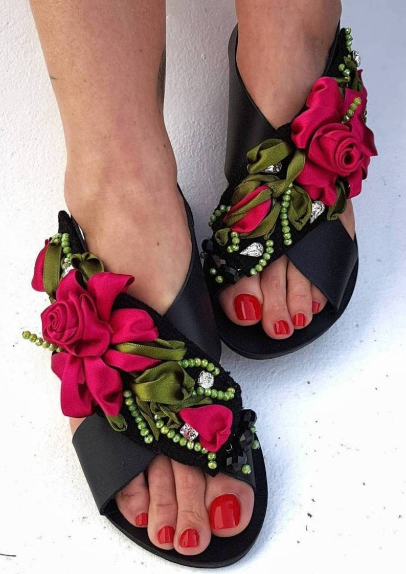 be073b8732eeb Greek sandals/handmade sandals/gladiator/strappy sandals/embroidery/crystal  sandals/beads/luxury sandals/women shoes/flats/summer shoes/boho