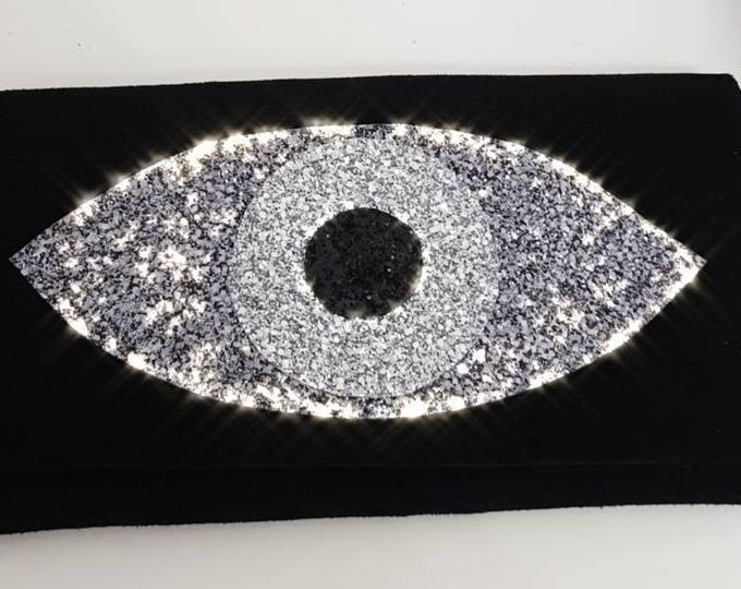 DHL FREE Greek evil eye bag/black /messanger bag/purse bag/genuine leather /cocktail bag/summer handbag/Greek evil eye/glitter bag/handmade