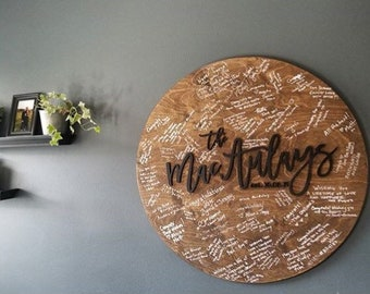 Wedding guestbook alternative | Wedding guest book | Last name wood sign | Family name wood sign | Wedding date wood sign