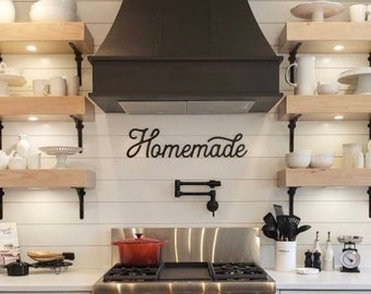 Homemade sign | Custom laser cut sign | Farmhouse style | Kitchen wall hanging | Kitchen wall decor | Homemade rustic sign | Retro sign